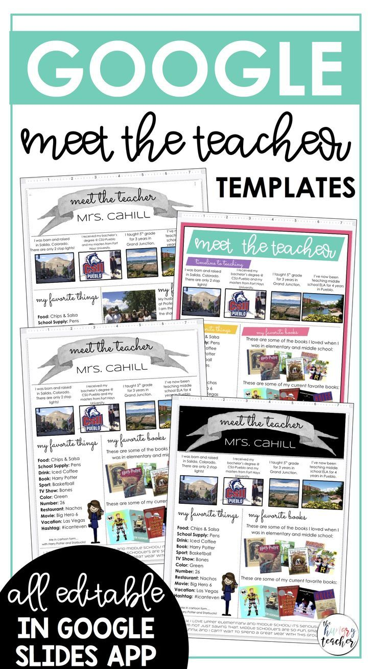 Editable Digital Infographic Google Meet The Teacher Templates In 2020 Meet The Teacher Template Meet The Teacher Teacher Templates