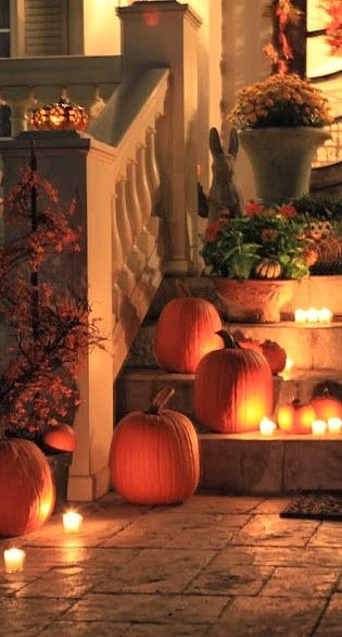Create a welcoming entryway for this year's trick-or-treaters!