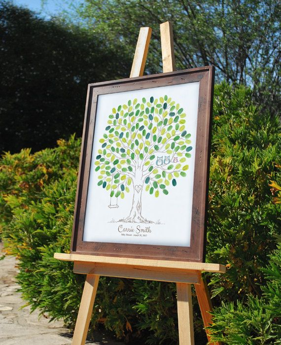 Baby Shower Thumbprint Tree Guest Book Alternative By TJLovePrints