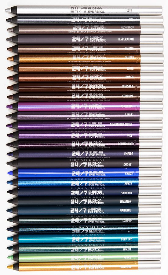 Sneak Peek: Urban Decay 24/7 Eyeliners Photos & Swatches - aka Crayola for grown up girls :)