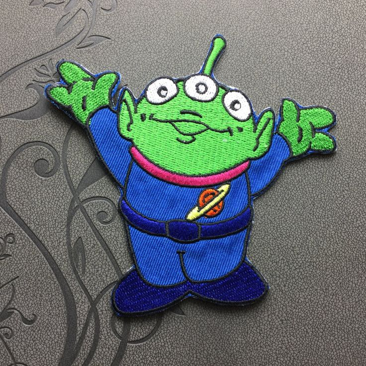 Toy Story patch Alien Iron on Badge Embroidered Patch Iron On Patches sew on patches Cartoon patch