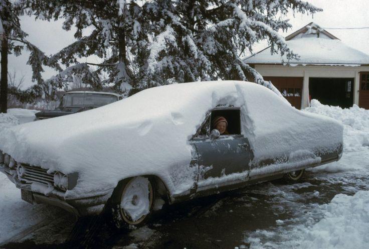 После снегопада в городке Вестон, штат Коннектикут, 1966 год