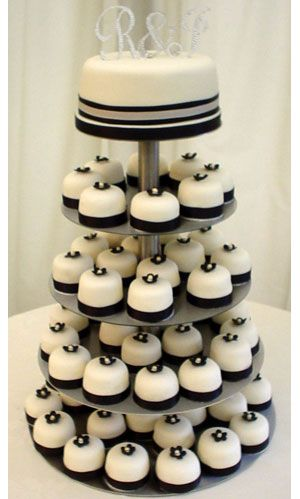 wedding cakes- I kind of like the idea of doing cupcakes. Then having other desserts to choose from as well.