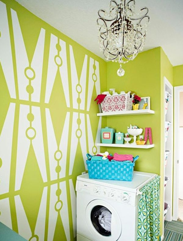 clothespin pattern for laundry room wall