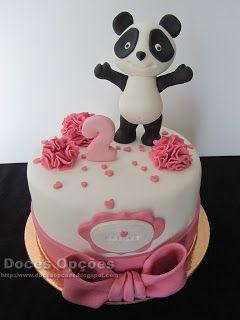 Doces Opções: Bolo com o Panda para o 2º aniversário da Matilde