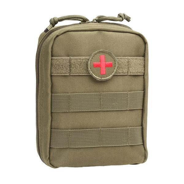 MOLLE EMT Medical First Aid Utility Pouch - Green - Orca Tactical Gear  The Orca Tactical MOLLE EMT Military Medical Pouch is the latest design in military grade tactical first aid gear. Constructed from 900 Denier PVC Polyester, our medical pouches are built to withstand the toughest outdoor conditions. It features a front side to side MOLLE webbing at the top so you can attach a first aid patch and any other identification or decorative patch at the same time. A first aid patch is included…