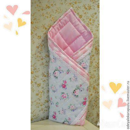 Конверт на выписку. Детское лоскутное одеяло. Одеяло-конверт