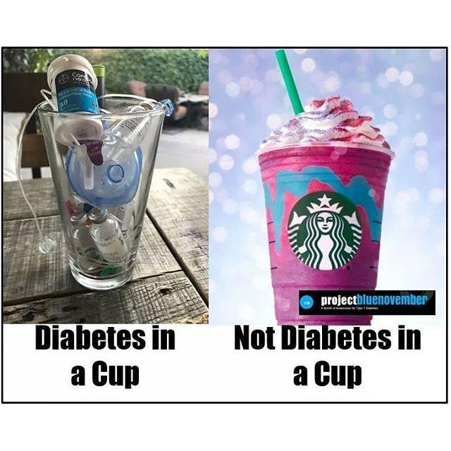 diabetes in a cup | diabetes humor | diabetes jokes