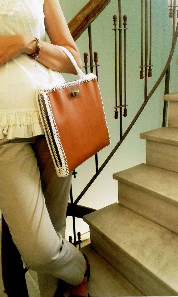 Leather laptop case Laptop leather bag Leather by MariliartbyM