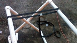 DIY: Folding PVC Kayak stand.