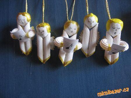 VYrábíme s dětmi Andílci z těstovin Sněhulák Mikulášci Čert.....