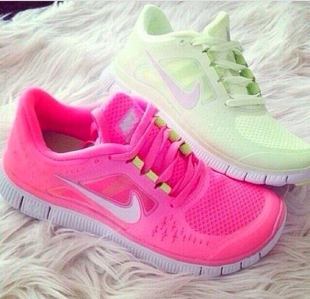 shoes pink green free runs nike nike free run white running nike running  shoes pink shoes green shoes cute cute shoes pink running shoes green  running shoes ...
