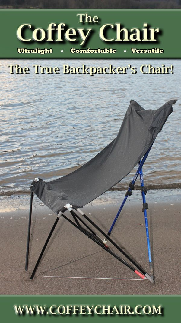 The Coffey Chair was designed as the ideal backpacking chair. Ultralight, comfortable, and versatile- the Coffey Chair is ready to change how you backpack.