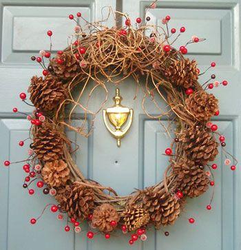 decoração de natal com pinhas - Pesquisa Google