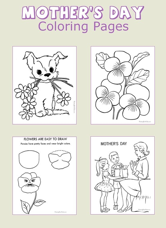 Mother's Day coloring pages - Don't forget Mom - Dozens of cute pages!