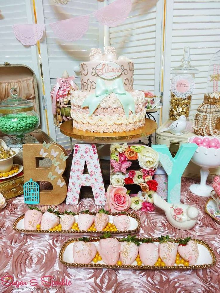vintage retro baby shower party ideas