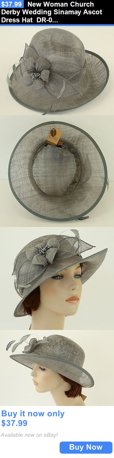 Women Formal Hats: New Woman Church Derby Wedding Sinamay Ascot Dress Hat Dr-04 Gray BUY IT NOW ONLY: $37.99