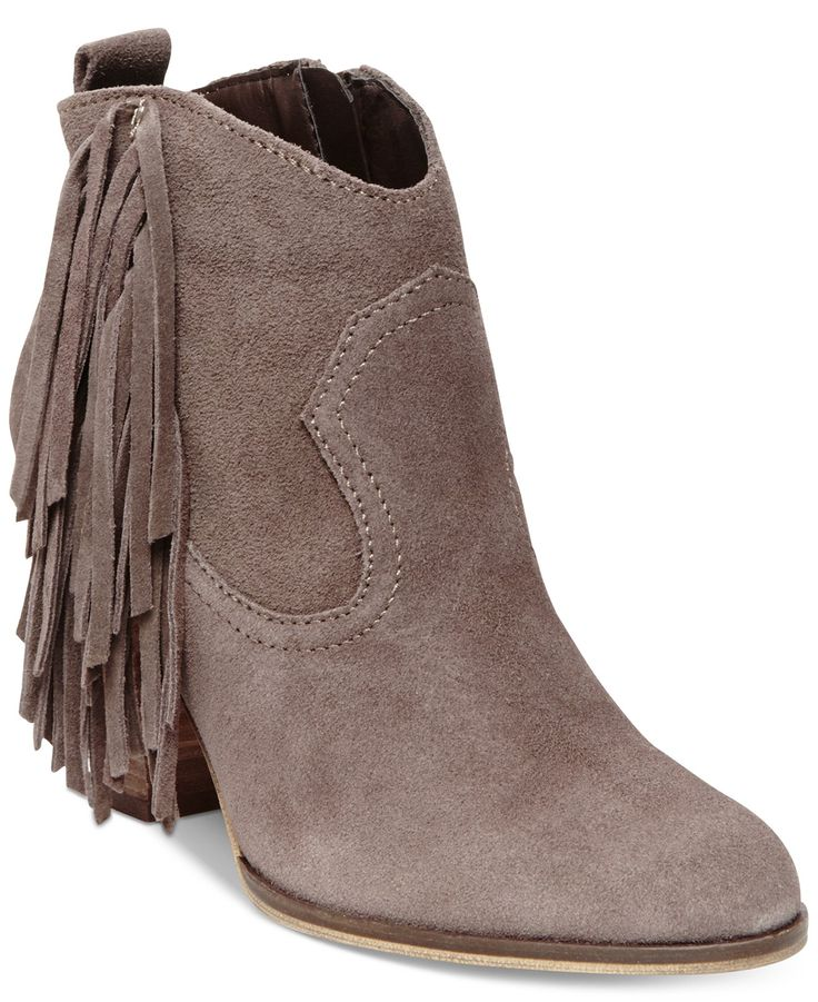 Steve Madden Ohio Fringe Booties - Boots - Shoes - Macy's