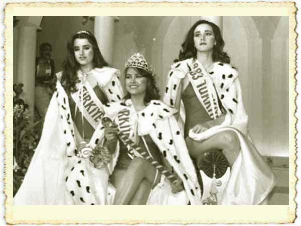 Türk Nostalji - Fotogaleri - 1983 Türkiye Güzeli Dilara Haraçcı'nın (en soldaki) resmi-HÜLYA AVŞARIN YERİNE