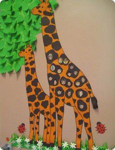 giraffe bulletin board ideas