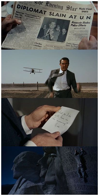 North by Northwest, 1959 (dir. Alfred Hitchcock)By theblueboarpub