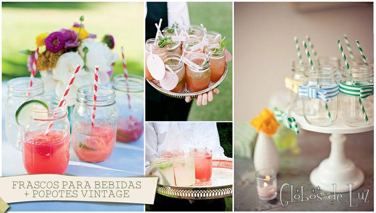 Frascos para bebidas mason jars ideas originales para decorar boda decoracion fiestas - Ideas originales para decorar ...