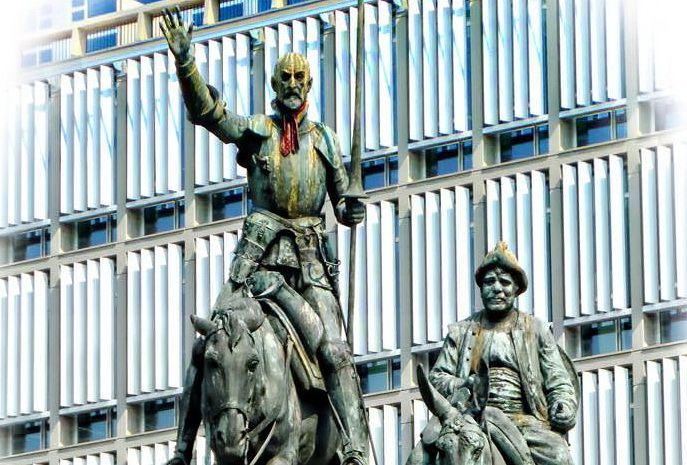 Don Quixote in  Place D'Espagne, Brussels