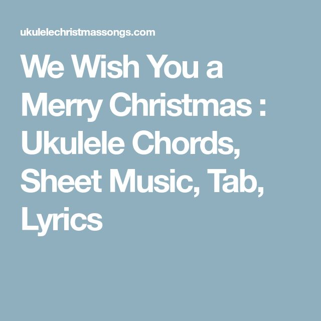 christmas carols uke tabs