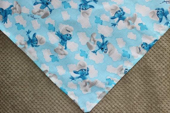 Smurf Dog Bandana with Blue or Pink Reverse by MarysBigSheep, $12.00