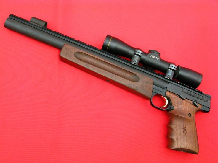 BROWNING - BUCK MARK .22 LR SILHOUETTE...14-INCH Hvy Bbl...w/ LEUPOLD Scope For Sale at GunAuction.com - 10394629