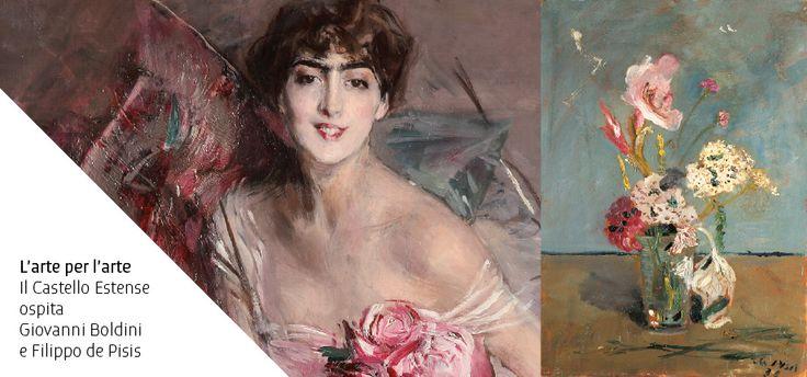 Giovanni Boldini, La signora in rosa, 1916. Filippo de Pisis, Il gladiolo fulminato, 1930