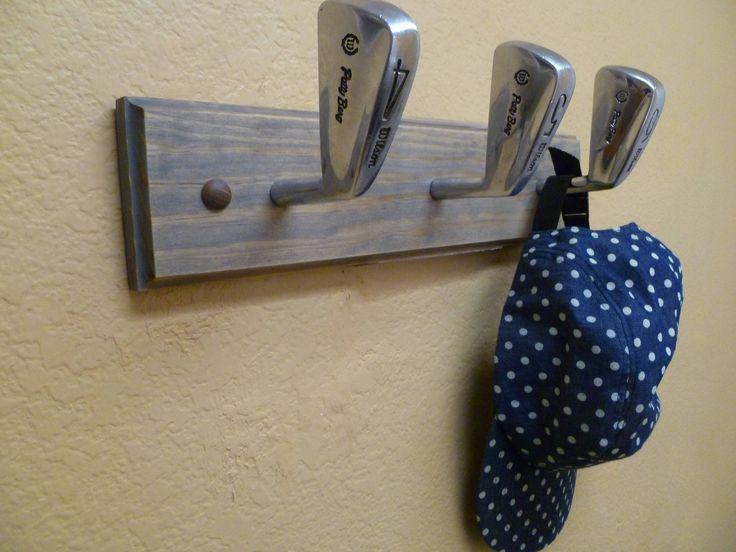 Vintage Patty Berg Wilson Golf Club Heads Coat Rack by TheFletcherStudios on Etsy