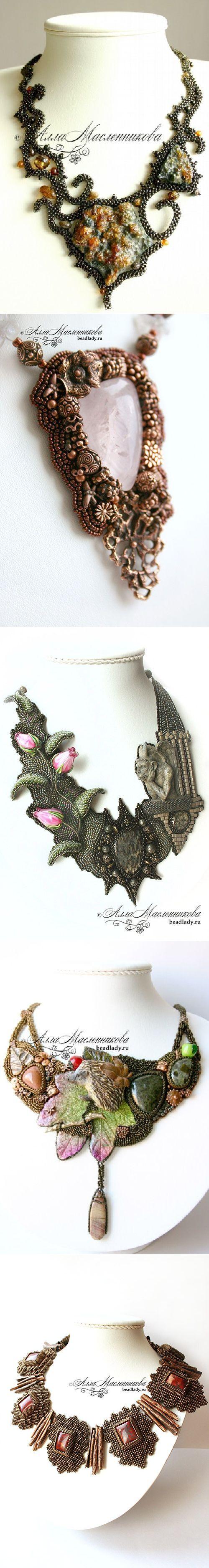 Великолепные украшения из бисера Аллы Масленниковой - Рукоделие | Бисерные чудеса | Постила