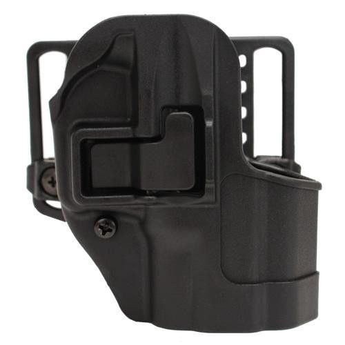 Serpa CQC, Belt & Paddle Holster, Plain Matte Black Finish - Springfield XD SubCompact, Right Hand
