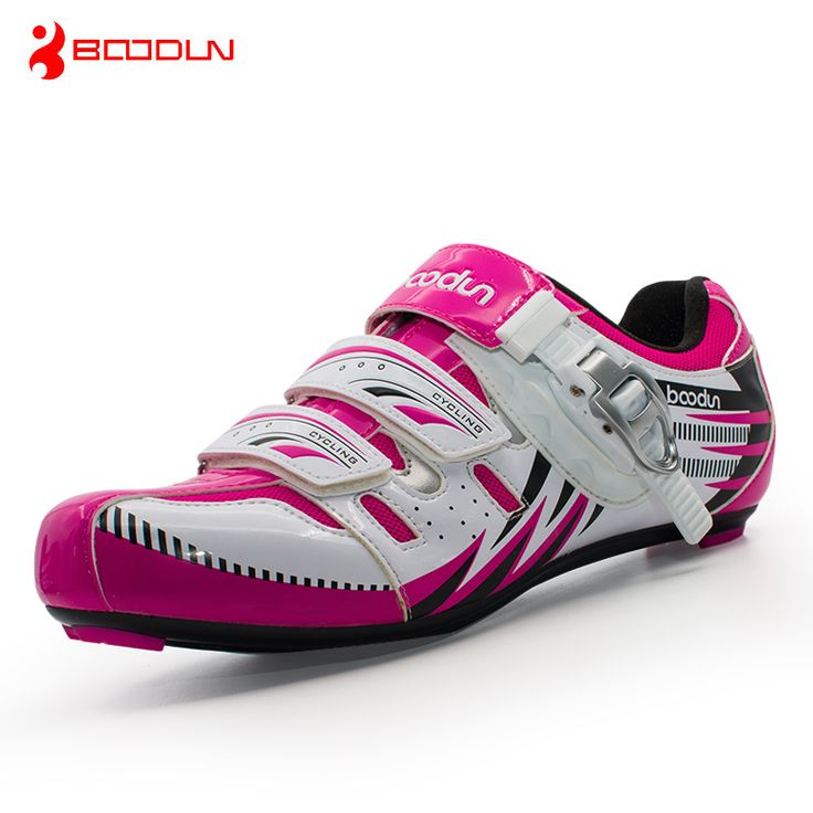Boodun Women Cycling Shoes Professional Road Bike Shoes Self-locking Bicycle Shoes Racing Athletic Cycle Shoes Zapatos de ciclis