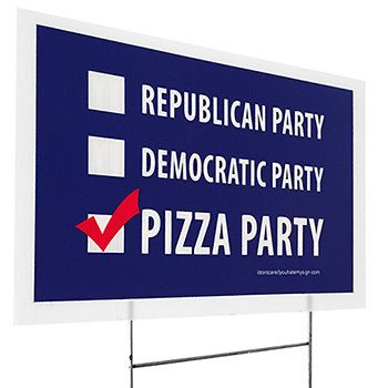 Who Doesn't Love Pizza? The 2016 Presidential Election is dividing friends and families! How about you put that energy into dividing a pizza into a few slices to share.  No one can be upset at a pizza party!
