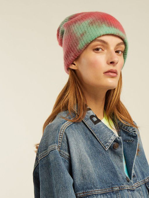d269f5c48 The Elder Statesman Tie-dye cashmere beanie hat | Need this now in ...