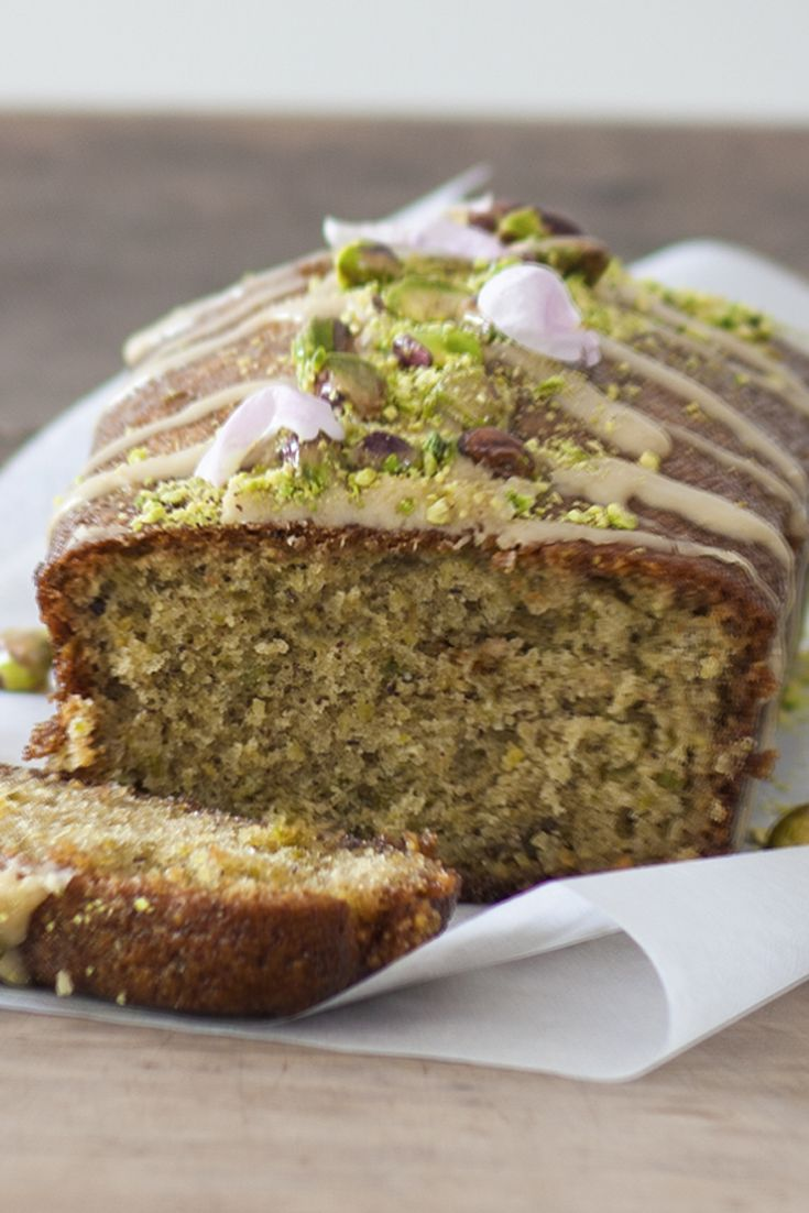 Spice up your lemon drizzle cake with pistachio and cardamom. Try Benjamina's recipe from The Great British Bake Off.