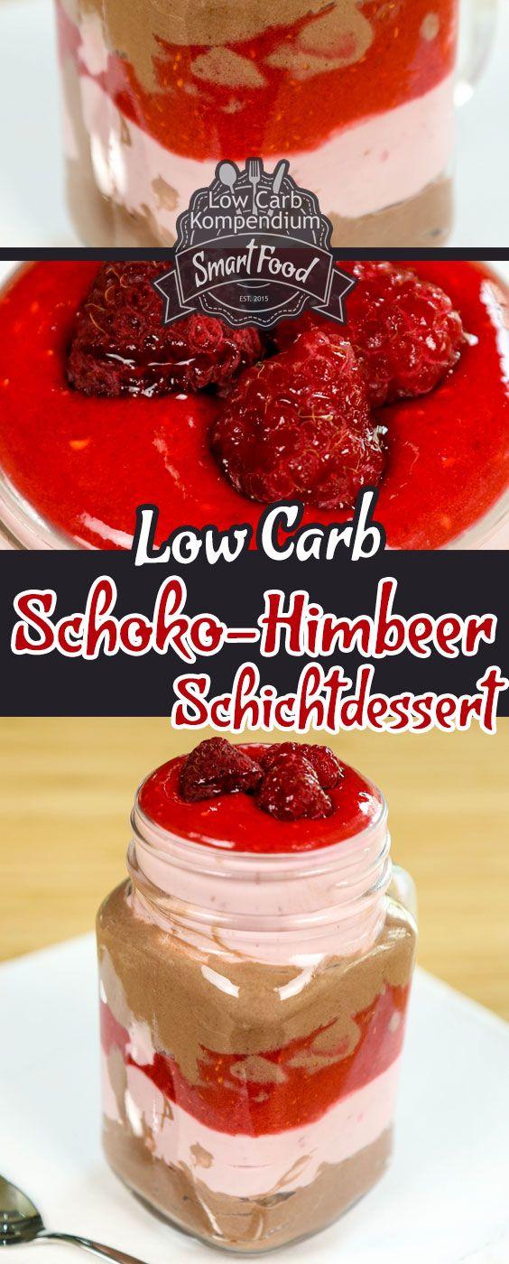 Schoko-Himbeer-Schichtdessert – fruchtig, frisch & Low-Carb - Einfach und schnell zubereitete Low-Carb Desserts kann es gar nicht genug geben, oder?  Für unser Low-Carb Schoko-Himbeer-Schichtdessert brauchst Du nur 4 Zutaten und ca. 10 Minuten Zeit. Obendrein schmeckt es nicht nur herrlich fruchtig-lecker, es sieht  auch noch toll aus   Wir wünschen dir viel Spaß beim Nachmachen, LG Andy & Diana.