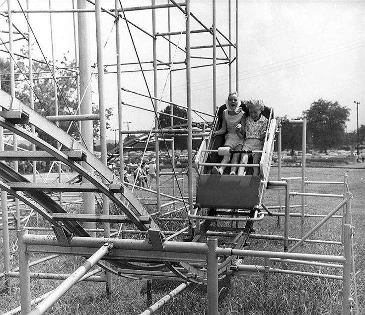 779 best amusement park carnival images on pinterest abandoned look at the little girls screaming and their hair blowing on the comet jr rollercoaster sciox Choice Image