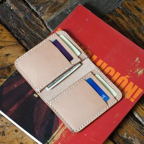 This is an acrylic template for the 6 pocket vertical wallet design as seen in the product photos. This wallet design features 4 card slots and 2 long sections to store folded cash, receipts, or notes
