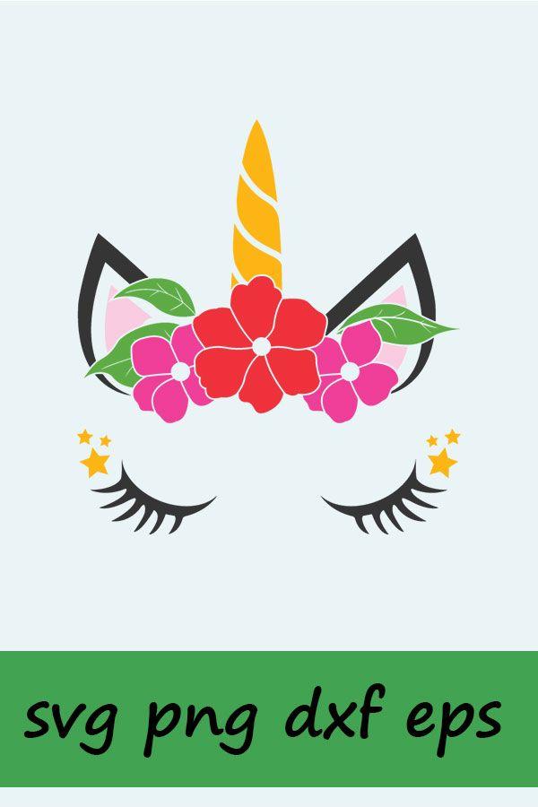 Unicorn Flower SVG, Silhouette and cricut Cut Cutting file