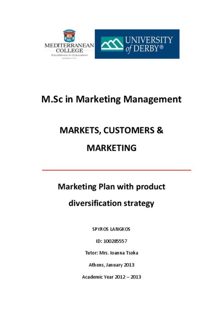 spyros-langkosmerketing-plan-with-product-diversification-media-strom by Spyros Langkos via Slideshare