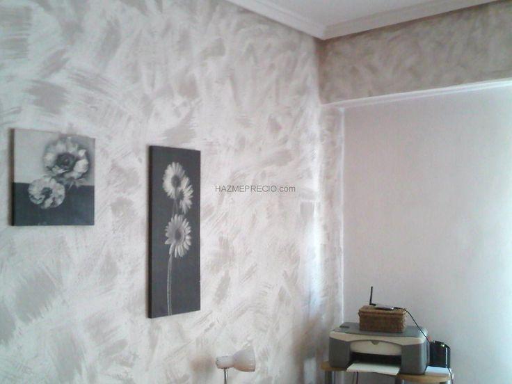 Pinturas decorativas trabajo en habitacion con gotele - Pintar paredes estucadas ...
