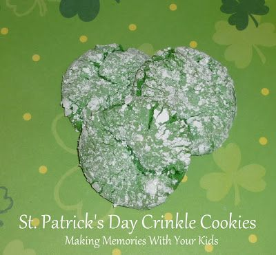 St. Patrick's Day Crinkle Cookies
