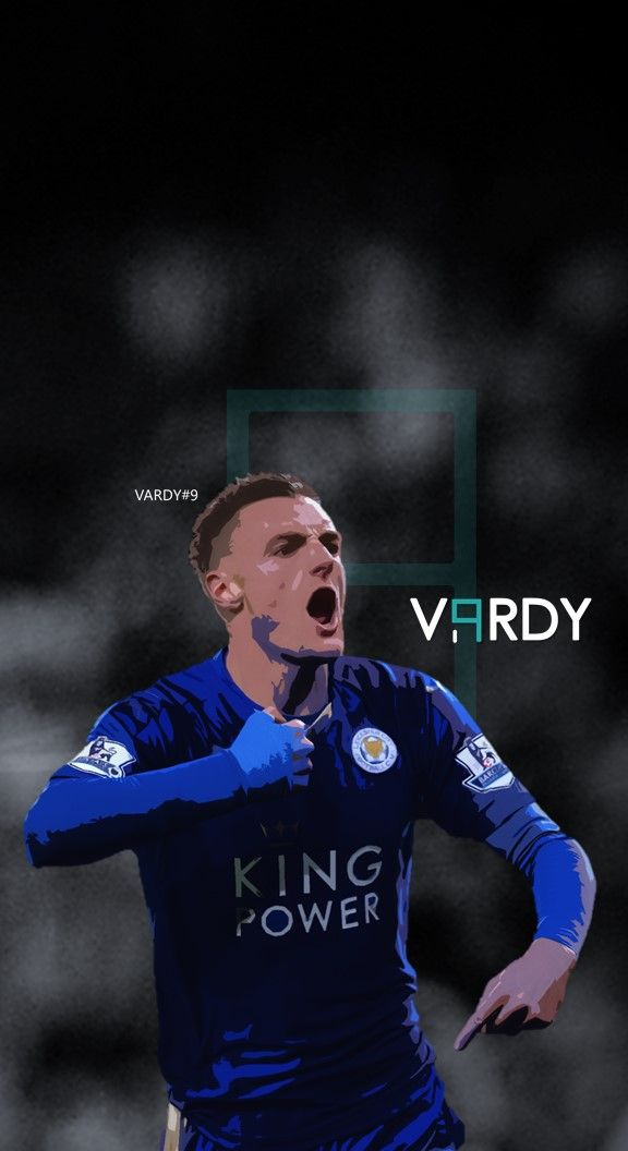 Jamie Vardy - Leicester Football - Soccer Creative Art - wallpaper