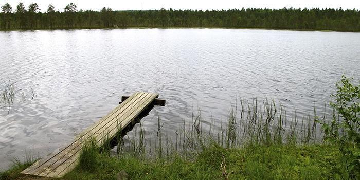 Lauhavuori National park Spitaalijärvi lake. Isojoki, Finland.