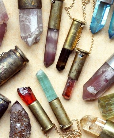 crystal bullet necklaces. if only i had $310.00 laying around.