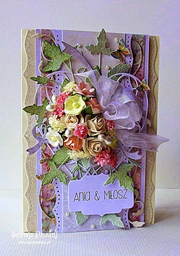 Scrap Pasja: Kartka z okazji ślubu