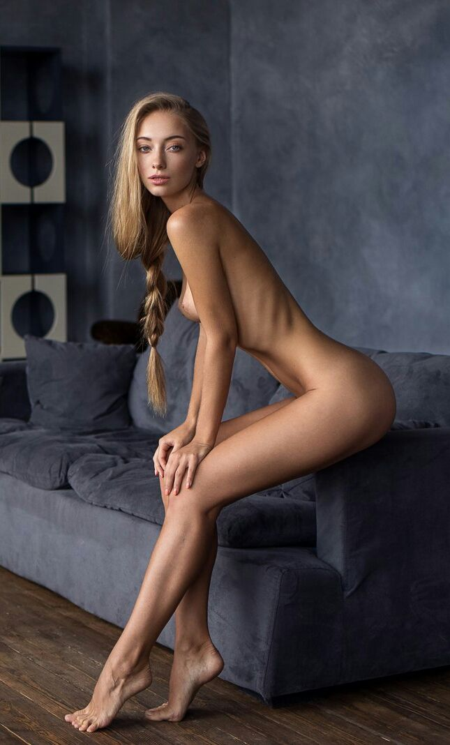 Sexy skinny legs naked